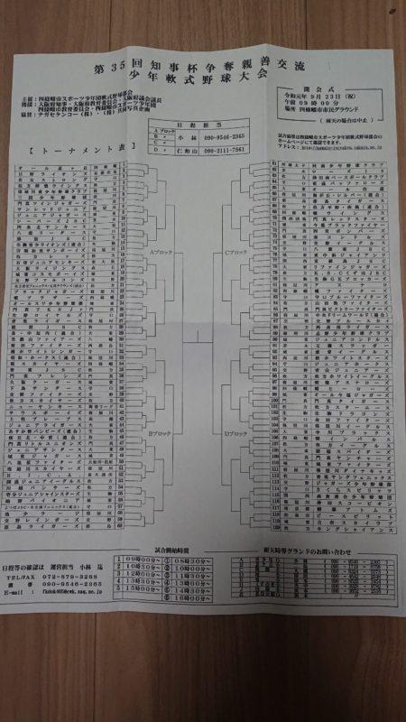 【6年生】大阪府知事杯1回戦 @ 北谷公園グラウンド